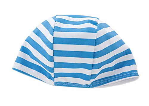 stylesilove Little Boys Stripe Boats Rash Guard and Shorts with Swim Hat 3pcs Swimsuit Beach Swimwear
