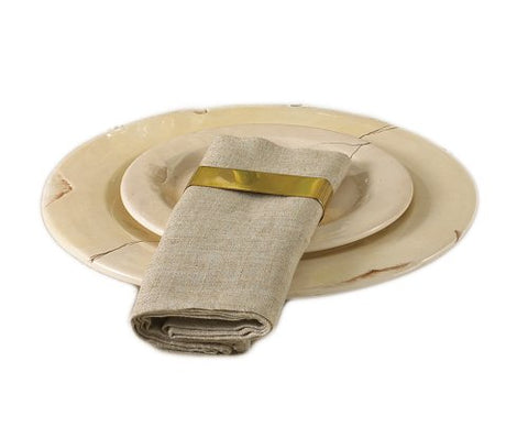 "Toscana Classic Natural Square Napkins, 20""x20"", Set of 4"