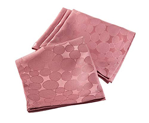 Fennco Styles Jacquard Circle Design Napkins, Set of 4 (Coral)