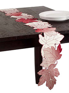 "Fennco Styles Garden Multicolor Leaf Very Unique Table Runner - 8""x72"""