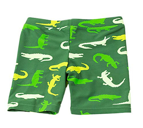 Styles I Love Baby Toddler Boys Crocodile Print Swim Shorts Bathing Suit Beach Pool Boy Swim Trunks
