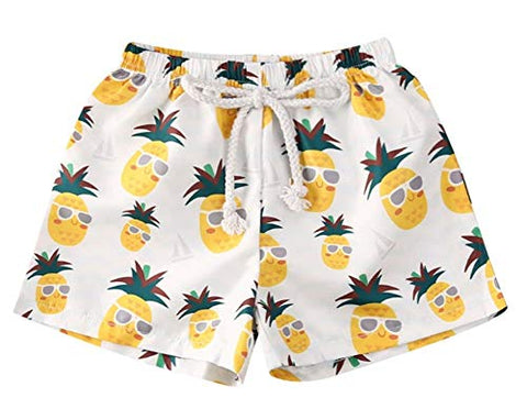 Styles I Love Baby Toddler Beach Pineapple Swim Shorts Bathing Suit Beach Pool Swimwear Little Boy Swim Trunks