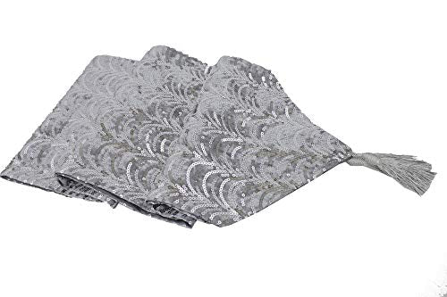 Fennco Styles Elegant Handmade Sequin Velvet Shiny Decorative Table Runner 13 x 72 Inch