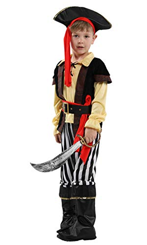 stylesilove Kid Boys Pirate King Halloween Costume Pirate Prince Cosplay Outfit for Themed Events Birthdays Party