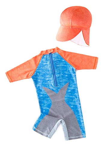 Styles I Love Little Boys Shark with 3D Swim Glasses One-Piece Rash Guard Swimsuit with Sun Hat 2pcs Beach Swimwear