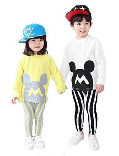 stylesilove Toddler Kids Baby Kids Boys Mickey 2-Piece Top and Pants