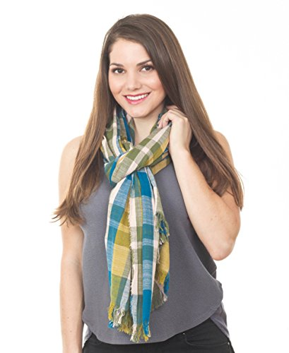 StylesILove Contemporary Checkered Design Women Shawl Scarf