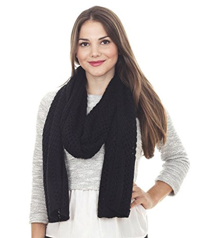 StylesILove Classic Knitted Women Solid Color Oblong Scarf