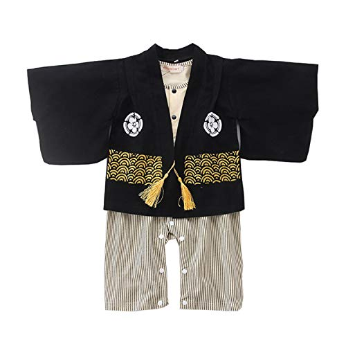 stylesilove Baby Boy Kimono Cardigan and Romper 2-pc Costume