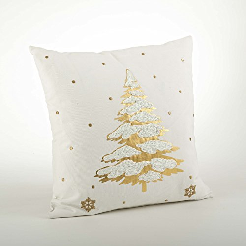 fenncostyles.com Holiday Embroidered and Foil Print Decorative Throw Pillow