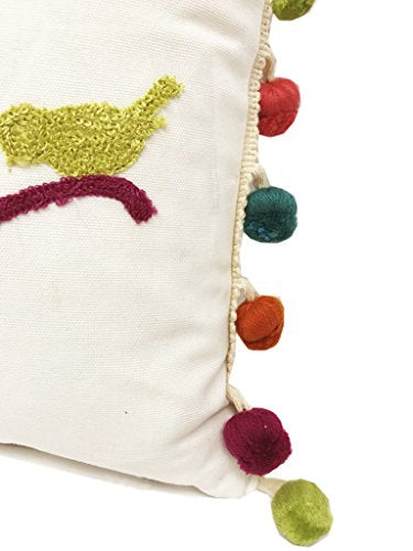 Fennco Styles Fun Inspirational Embroidered And Tasseled Decorative Throw Pillow - 4 Styles