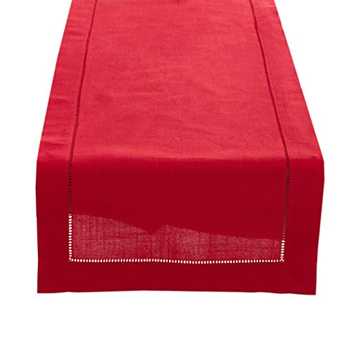 Fennco Styles Rochester Collection with Hemstitched Border Table Runner - 3 Sizes