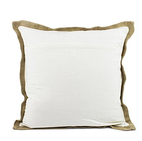 "Fennco Styles Home Décor Sea-Inspired Space Decorative Down Filled 100% Cotton Throw Pillow - 20"" Square"