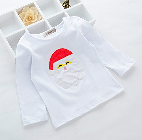 stylesilove Baby Holiday Santa Top and Pants 2-pc Pajamas Set