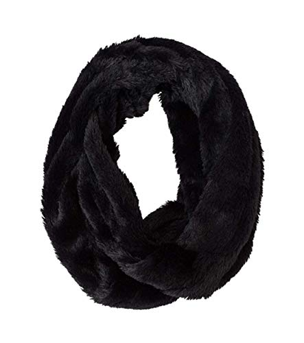 StylesILove Women Soft and Warm Shaggy Faux Fur Twisted Tube Infinity Scarf