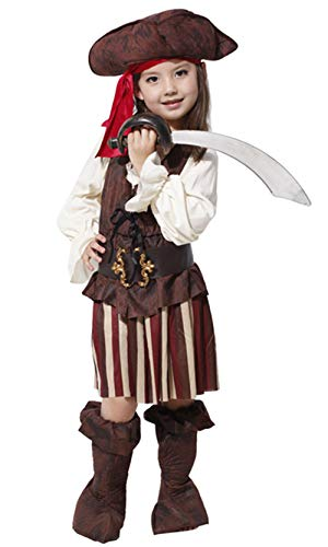 stylesilove Little Pirate Girls Halloween Costume Themed Party Cosplay Outfit