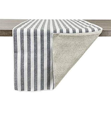 Fennco Styles Handmade Reversible Striped Design 100% Pure Cotton Table Runner