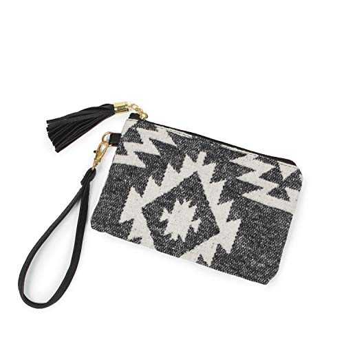 StylesILove Women Girls Western Print Wallet Clutch Pouch Card Holder Multi-use Bag with Wrist Strap