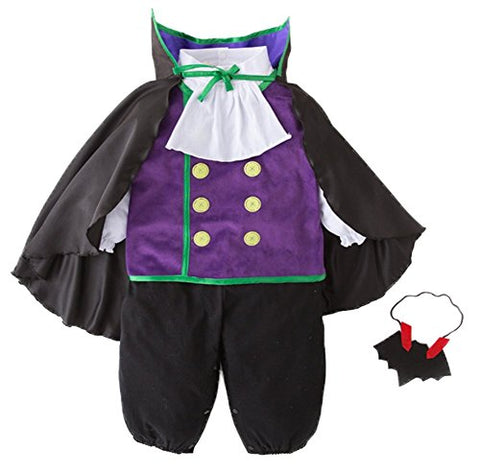 stylesilove Infants Toddlers Baby Boys Vampire Halloween 4-Piece Costume Outfit