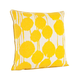 fenncostyles.com Artistica Printed Inkblot Decorative Throw Pillow (Saffron)