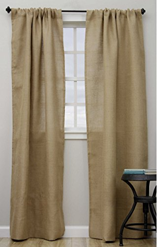 Fennco Styles Open Wave Burlap Unlined Curtain Panel