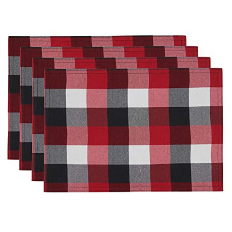 Fennco Styles Classic Buffalo Plaid Cotton Blend Table Runner - Holiday Plaid Table Cover for Christmas, Home Decor, Banquet, Family Gathering and Special Occasion