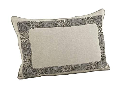 Fennco Styles Posh Beaded Decorative Throw Pillow