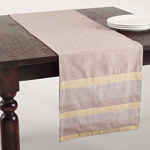 "Fennco Styles Shimmering Design Appliqué Cotton Table Runner, One Piece (16""x72"")"