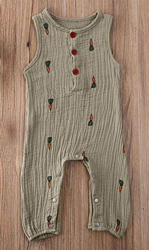 Styles I Love Baby Girls Muslin Cotton Cactus Sleeveless Romper Spring Summer Girls Jumpsuit Outfit