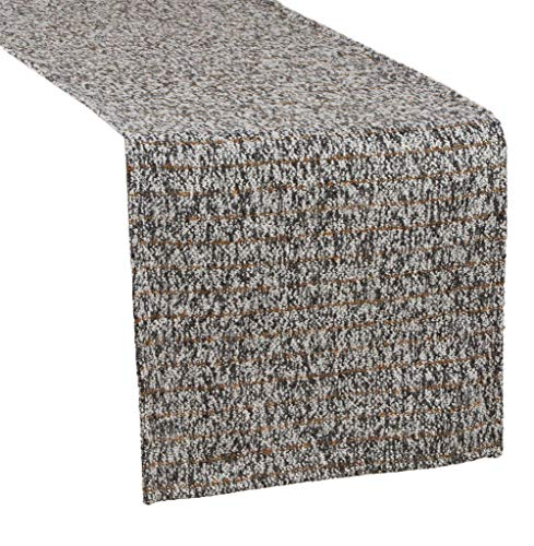 Fennco Styles Striped Tweed Table Runner