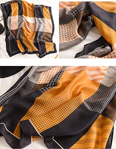 StylesILove Women Girls Multi Geometric Print Oblong Scarf Lightweight Autumn Wrap Shawl