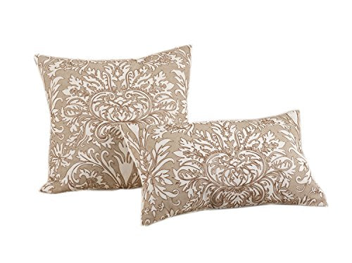 "Fennco Styles Emmeline Medallion Design 100% Cotton Decorative Throw Pillow (12""x 20"")"