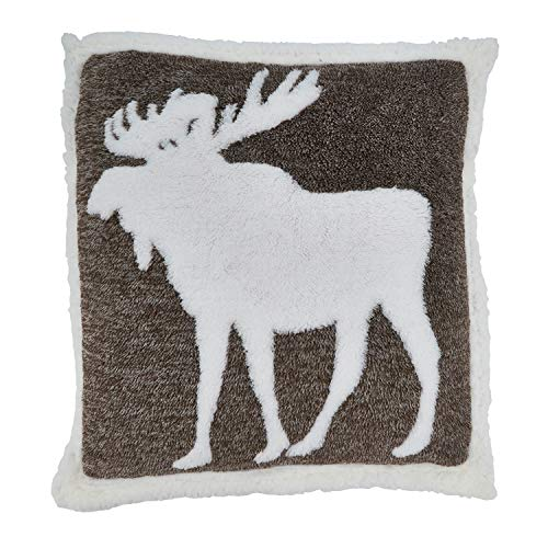"Fennco Styles Country Moose Decorative Throw Pillow 20"" W x 20"" L"