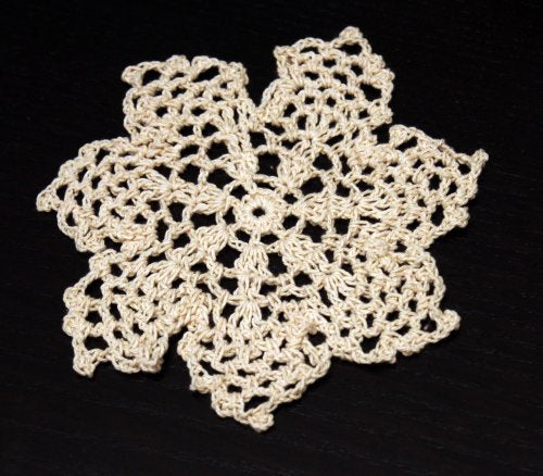 Fennco Styles Handmade Crochet Lace Pineapple Doily. 100% Cotton. 4 Pieces