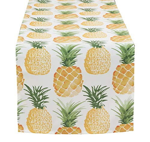 Fennco Styles Tropical Pineapple Printed Tablecloth