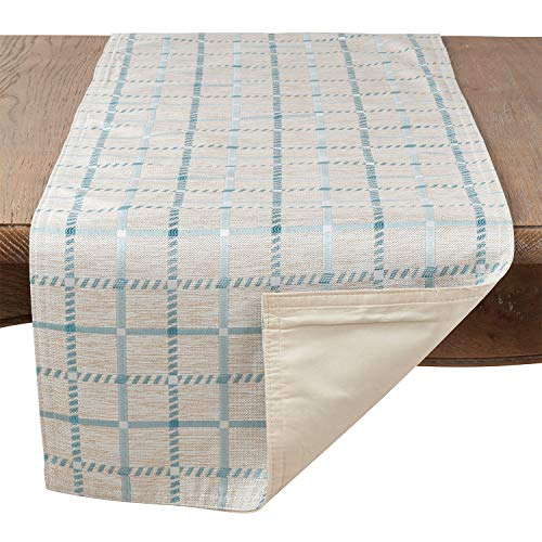 Fennco Styles Torino Collection Checkered Print Table Linens, 3 Colors