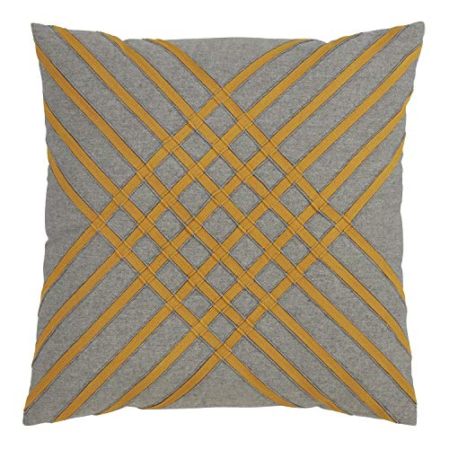 Fennco Styles Moutarde Collection Bohemian Accent 100% Pure Cotton Throw Pillows with Case & Insert – Variety Design Pillows for Couch, Bedroom and Living Room Décor