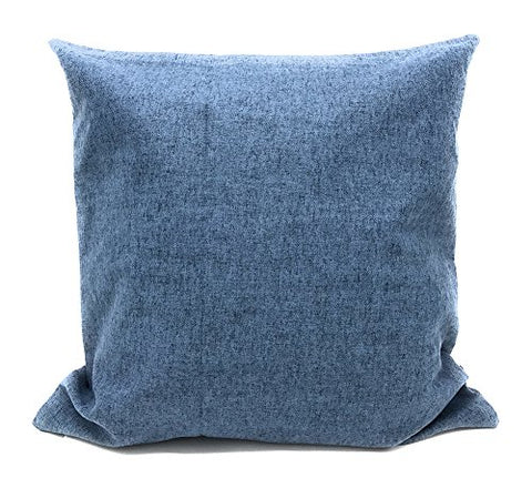 "Fennco Styles Soft Cozy Solid Decorative Pillow Case 17"" Square"