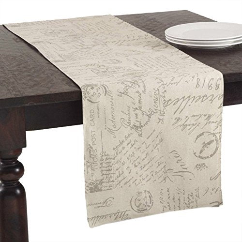 Fennco Styles Old Fashioned Script Print Tabletop Cover