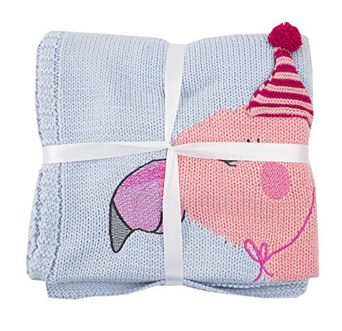 Baby Kids Lovely and Cozy Unicorn Flamingo Knitted Cotton Crib Nursery Throw Blanket