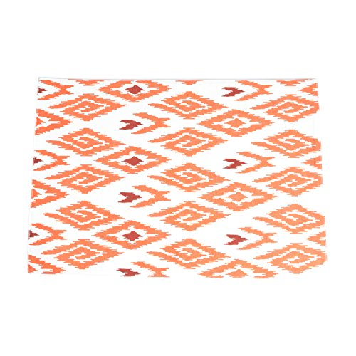 Fennco Styles Unique Tangier Ikat Printed Traycloth Placemat, Set of 4
