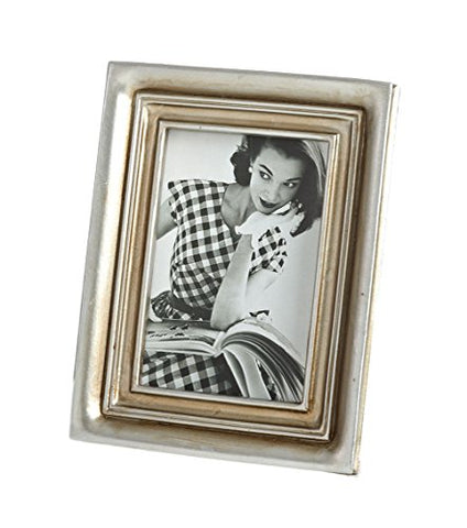 Fennco Styles Classic Two Tone Decorative Photo Frame, 2 Photo Sizes