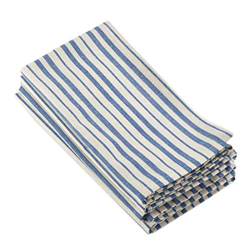 Fennco Styles Dauphine Collection Striped Design 100% Cotton Washable Cloth Napkin 4 Pack 20 x 20 Inch for Restaurants