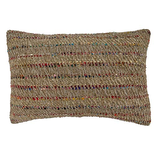 Fennco Styles Thin Stripe Pure Cotton Decorative Throw Pillow – Luxury Textured Cushion for Couch, Sofa, Bedroom, Office and Living Room Décor
