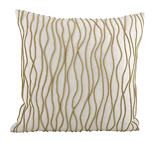 Fennco Styles Wavy Line Down Filled Decorative Throw Pillow, 20-inch Square