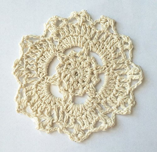 Fennco Styles Handmade Crochet Lace Cotton Doilies - 4-inch Round
