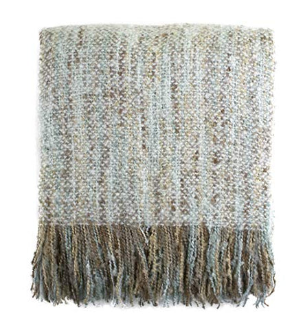 "Fennco Styles Faux Mohair Shabby Chic Throw Blanket, 50""x60"""