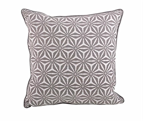 Fennco Styles Tile Down Filled Decorative Throw Pillow (Taupe case only)