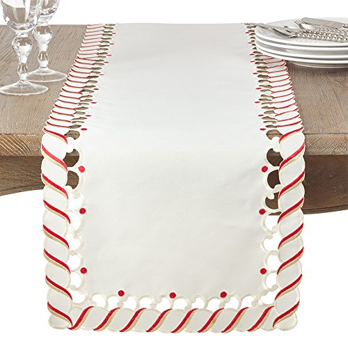 Fennco Styles Christmas Candy Cane Design Tablecloth