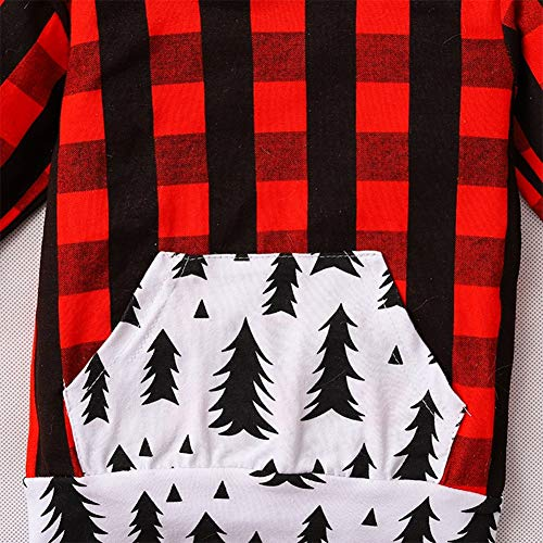 Styles I Love Baby Boys Girls Christmas Buffalo Plaid Long Sleeve Hoodie and Pants 2pcs Holiday Cotton Outfit
